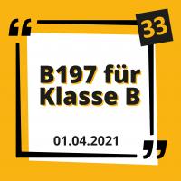 Die Schlüsselzahl B197 für die Klasse B (Automatikführerschein)