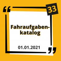 Der Fahraufgabenkatalog zum 01.01.2021