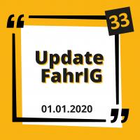 Die FahrlG Novelle vom 01.01.2020