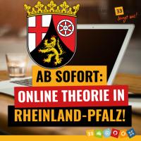 Ab sofort: Online-Theorie in Rheinland Pfalz!