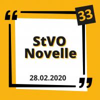 Die StVO Novelle vom 28. April 2020